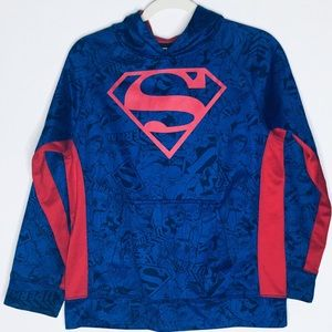 Boys Superman Pullover Hoodie Size XL.